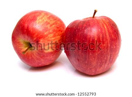 red apples. Shallow DOF, macro. - stock photo