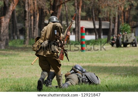 Red Army. WW2 reenacting