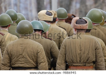 Red Army WWII. Reenacting