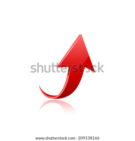 Red arrow.Raster copy. - stock photo