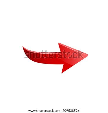 Red arrow. Raster copy. - stock photo