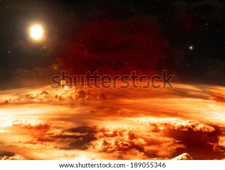 Red Atmosphere  - stock photo