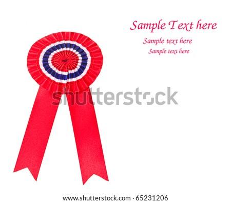 Red award ribbon - stock photo
