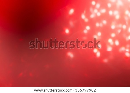 red background, abstract bokeh light celebration blur background - stock photo