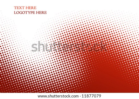 red background from balls on white