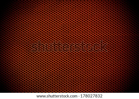 Red  background of circle pattern texture - stock photo