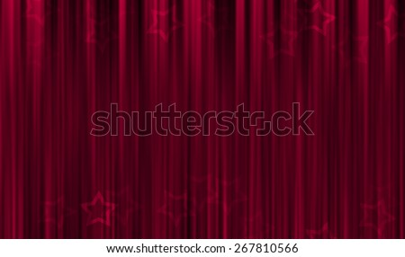 Red background on stage - stock photo