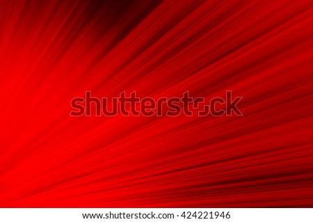 Red background, Shining rays of light, Shiny sunbeams, Bright sunbeams on red background, Abstract bright background - stock photo