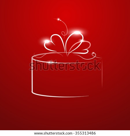 red background with a gift
