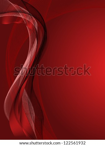 Red Background with abstract lines and pattern
