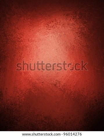 red background with black vintage grunge texture design on border of frame with copyspace and highlight - stock photo