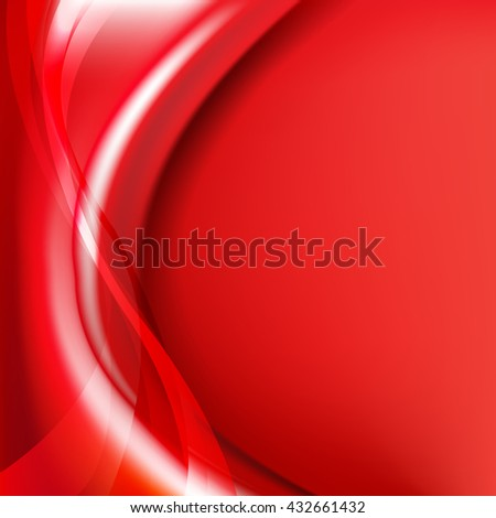 Red Background With Line - stock photo