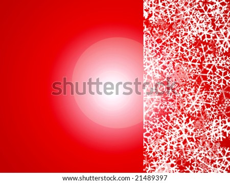 red background with snow effect