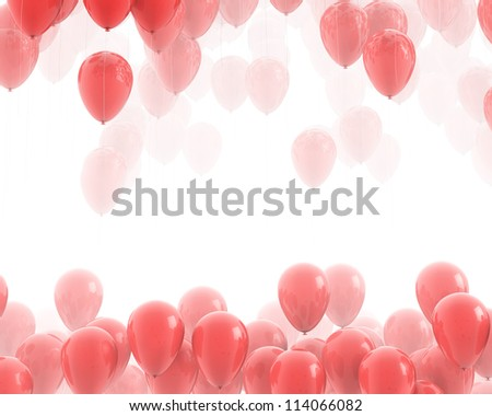 Red ballons backgrounds - stock photo
