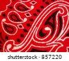 red bandana macro - stock photo