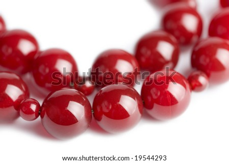 red beads isolated