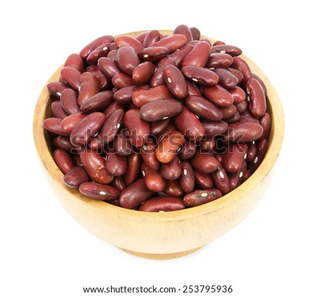 Red beans cup isolated on a white background - stock photo