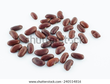 Red Beans, isolated on white background  - stock photo