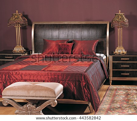 Red Bed  - stock photo