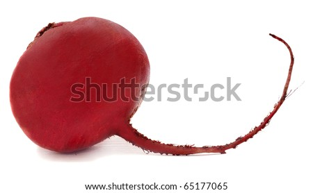 red beet isolated on white background - stock photo