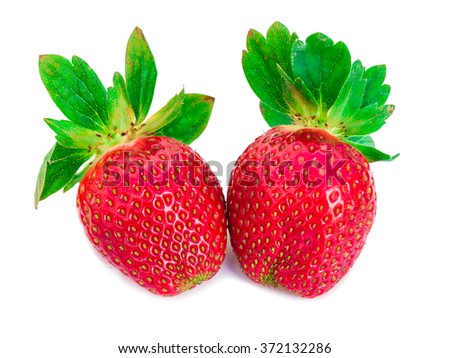 Red berry strawberry isolated on white background, Strawberry. Collection isolated on white, close up