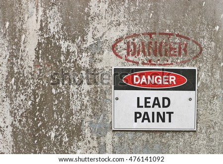 Red black white danger toxic fumes stock photo 432752080 for What are the dangers of lead paint