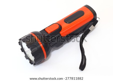 red black torch on a white background - stock photo