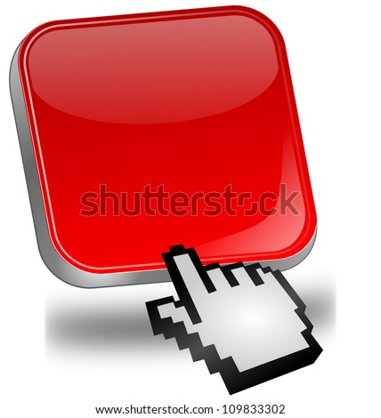 red blank Button with cursor