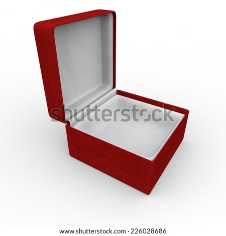 Red blank gift box for rings and other items