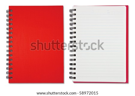 Red Blank Note Book - stock photo