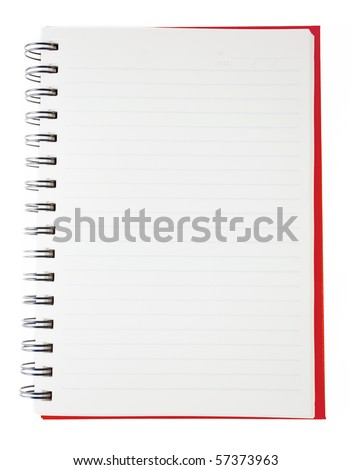 red blank notebook