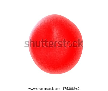 Red blood cells illustration of red blood cells in high detail - stock photo