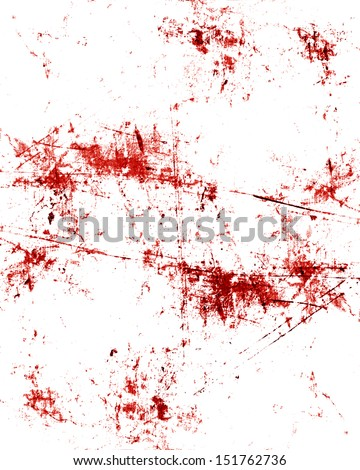 red blood splatter on a grunge like background - stock photo