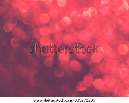 Red blur background  with hexagon bokeh for Christmas background - stock photo