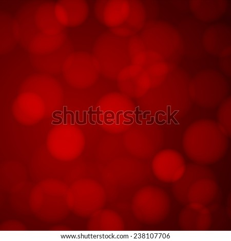 Red bokeh background with defocused lights. - stock photo