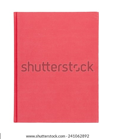Red book cover isolated on white background
