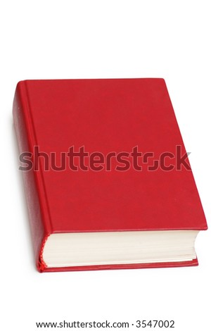 Red book isolated on the white  background - stock photo
