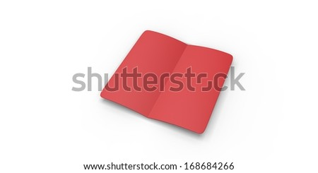 Red book isolated on white background