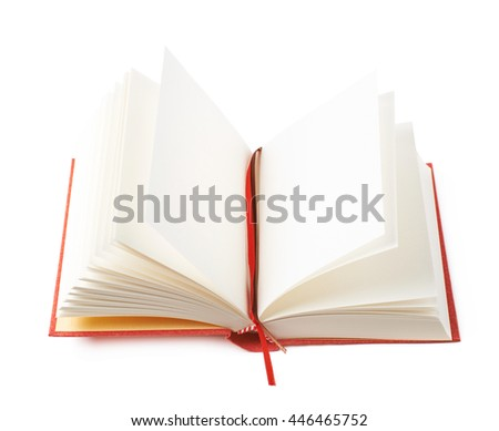 Red book isolated over the white background