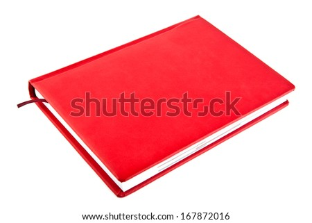 red book on a white background - stock photo