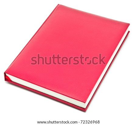 red book on whie background