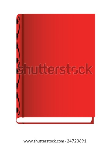 red book with abstract decoration on side