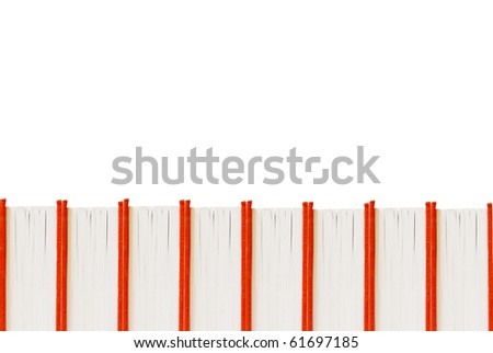 Red books for background isolated - stock photo