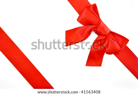 red bow and ribbon christmas gift wrapping