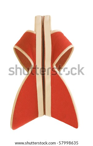 red bow of shoes - stock photo