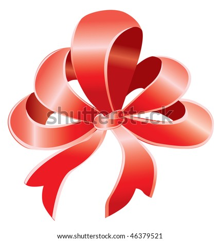 Red bow over white