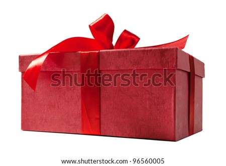 Red box and ribbon