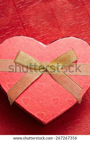 red box in heart shape - stock photo