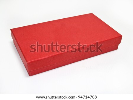 red box , isolated on white - stock photo