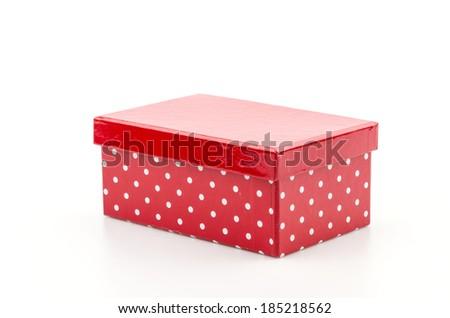 Red box isolated white background - stock photo